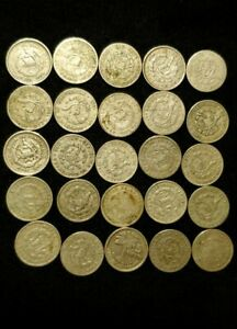 GUATEMALA  LOT of  25 silver coins    nice coin..