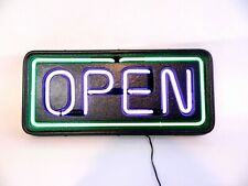 "24""x12"" Bright Led Neon Open Sign Shop Store Bar Cafe Business Light Purple"