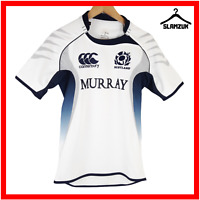 Scotland Rugby Shirt Canterbury S Small Top Short Sleeves Away Jersey White 2010