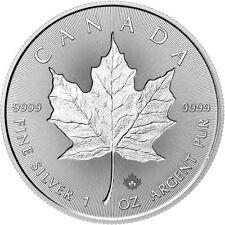 1 oz 999 Silber Silbermünze Kanada Maple Leaf 2018 5 CAD Royal Canadian Mint