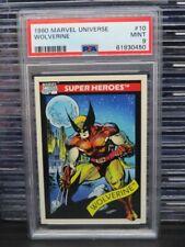 1990 Marvels Universe Wolverine Super Heroes #10 PSA 9 MINT Q162