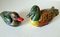bibelot boîte à bijoux lot de 2 canards en bois