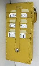 New Soft Yellow Wallet Leather Zippered Snap Slim Money Card ID Window Holder