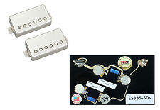 Duncan Pearly Gates Humbucker Pickup Set, Nickel+ES335-50 Wiring Harness