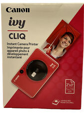 "Canon Ivy CLIQ Instant Camera Printer. 2""x3"" Photos (Ladybug Red) *NEW & SEALED*"
