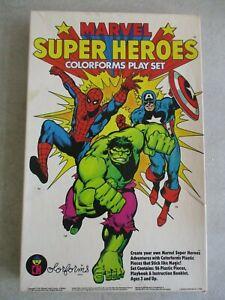 VINTAGE 1983 MARVEL SUPER HEROES COLORFORMS PLAYSET IN ORIGINAL BOX
