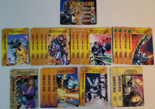 Marvel Overpower CCG War Machine Player Set Hero + All Specials 21 Card Lot