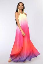 Hot Sale Women's Halter Beach Long Skirt Halter Chiffon Dress
