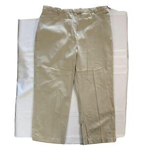 "SAG HARBOR~Women comfort stretch sateen crop pant Sz 16 missy New w/tag ""Estilo"""