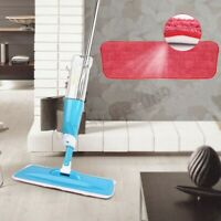 Water Spray Household Flat Mop Floor Cleaner 360 Rotate Spin Head Dust Mop  # √