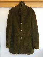 Rare Beautiful Kiton Napoli Italy Full Length Merino Shearling Coat Men's L New