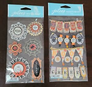 Jolee's Boutique Halloween Word Banners and Large Doily Medallions, 2 sets