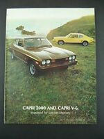 Original 1974 Mercury Capri 2000 & Capri V-6 Sales Brochure