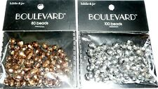 Hildie & Jo Beads Boulevard BEADS BRONZE & SMOKEY GREY/SILVER Lot of 2 packs