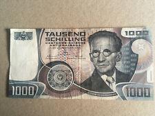 """1000 SCHILLING SCHEIN, ERWIN SCHRÖDINGER, 1983, ERHALTUNGSGRAD III = """"SEHR SCHÖN"""