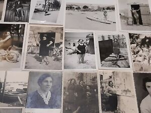 lotto di 50 foto d'epoca - tematica donnine
