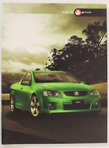 New Holden Commodore VE Ute Sales Brochure SS SV6 Memorabilia Series 1 Man Cave