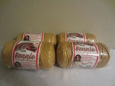 Lot of 4 rolls of Gold 4mm Bonnie Braid Braided Macrame Craft Cord 400yds