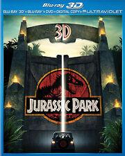 Jurassic Park BLU RAY 3D, BLU RAY, DVD NEW! DINOSAURS, EPIC CLASSIC!