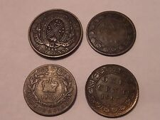 4 CANADA  LOT 1844 HALF PENNY, 1859 ONE CENT, 1876 NEWFOUNDLAND CENT, 1903 CENT