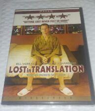 Lost in Translation (DVD, Bill Murray, Scarlett Johansson, 2004, Widescreen)