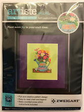 Zweigart Artiste Mini EARTH LAUGHS IN FLOWERS Cross Stitch Kit - Kooler Design