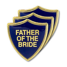 Father Of The Bride Blue Wedding Shield Badge