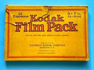 Vintage Kodak Film Pack No 515. 5x7 Exposures. Expired 1938.