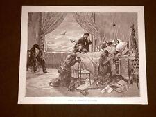 Incisione del 1892 La morte di Giuseppe Garibaldi a Caprera