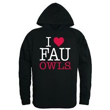 Florida Atlantic University Owls FAU NCAA College I Love Hoodie Sweatshirt