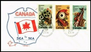 Canada 1976 Montreal Olympics Combo Unaddressed FDC, ARTOPAGES Cachet- Sc#684-86