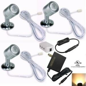 3 Xking 12V 1W LED Spotlight/Cabinet Light/Jewelry Lamp/Ceiling Light/Display