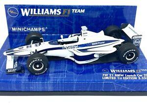 Ltd Ed 1:43 scale Minichamps Williams FW21 F1 Car - R Schumacher F1 Launch Car