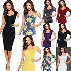 Womens Sexy Elegant Floral Lace Casual Cocktail Party Sheath Bodycon Dress 2056