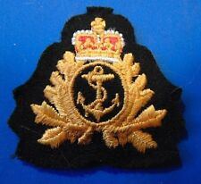 CANADA Armed Forces RCN Royal Canadian Navy embroidered cap hat badge QC