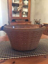 New ListingLongaberger Beverage Tub Basket Leather Handles