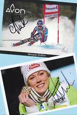 Mikaela shiffrin - 2 top autógrafo imágenes (13) - Print copies + ski ak firmado