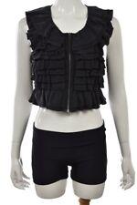 Theory Womens Top Size P Petite Black Blouse Sleeveless Silk Shirt preowned