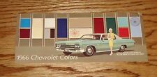 Original 1966 Chevrolet Colors Brochure 66 Chevy Chevelle Nova Corvair Corvette