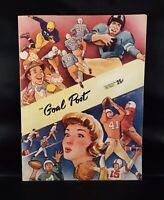 """1951 UCLA Bruins vs California Golden Bears Football Program """"The Goal Post"""" 🏈"""