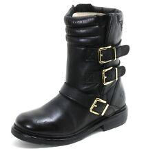 322 Stiefel Leder 90er Boots Gold Damenschuhe Schnallen Stiefelette Bronx 36