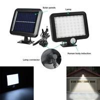 2x56LED Lampe Solaire Projecteur Lumière Jardin Extérieur Détecteur de Mouvement