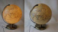 "12""  ( 30 cm ) LIGHT UP LAMP ANTIQUE BRASS FINISH  WORLD GLOBE ATLAS MAP RRP £89"