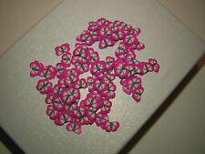100 rondelles fimo papillon rose/violet