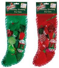 Holiday Stocking for Cats - 12 Cat Toys Asst Glitter Pom Balls Bells Sisal Plush