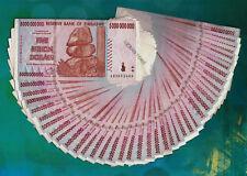 5 Billion Zimbabwe Dollars x 40 Banknotes Bundle AB 2008 40PCS Paper Money Lot
