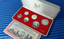 1985 Singapore Sterling Silver Proof Coin Set (Extra Large $1 Silver Proof Coin)