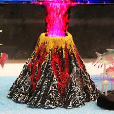 Aquarium Volcano Air Bubble Stone Oxygen Pump Fish Tank Ornament Landscape Decor