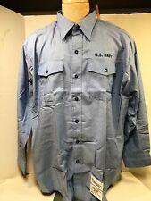 Navy Dungaree Shirt, 2X