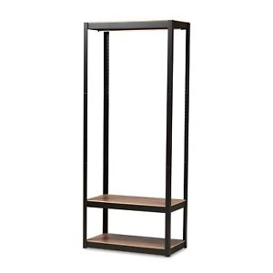Baxton Studio Elton Modern and Contemporary Finished Metal 3-Shelf Free-Stand...